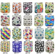 Washable Diapers Couche Lavable 2016 Brand Baby Nappies Animal Pattern Cloth Diaper Bamboo Velour Fitted Reusable Baby Diaper