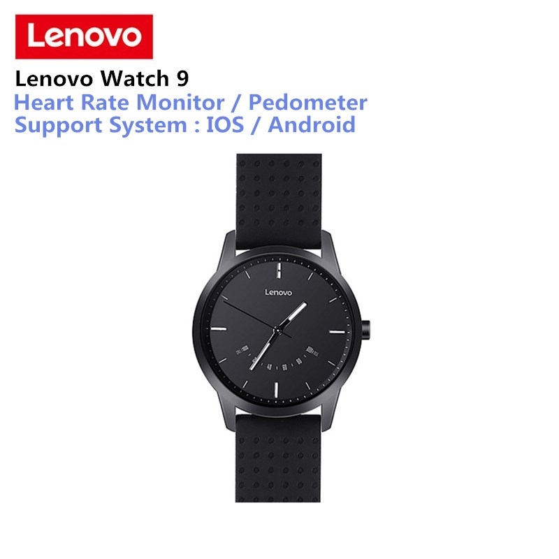 Lenovo Watch 9 Bluetooth Smartwatch Bluetooth Fitness Tracker Heart Rate Monitor Smart Watch Call Reminder For IOS Android g5 heart rate monitor smart watch mtk2502 fitness tracker call sms reminder camera smartwatch for ios android pk gt08 u8 dz09
