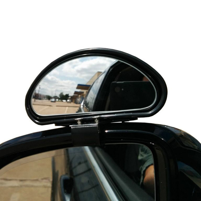 2PCS X Top Quality Blind Spot Mirror Covers Wide Angle Side 360 View Adjustable Exterior Parts Fit Car SUV Truck RV Freeshipping