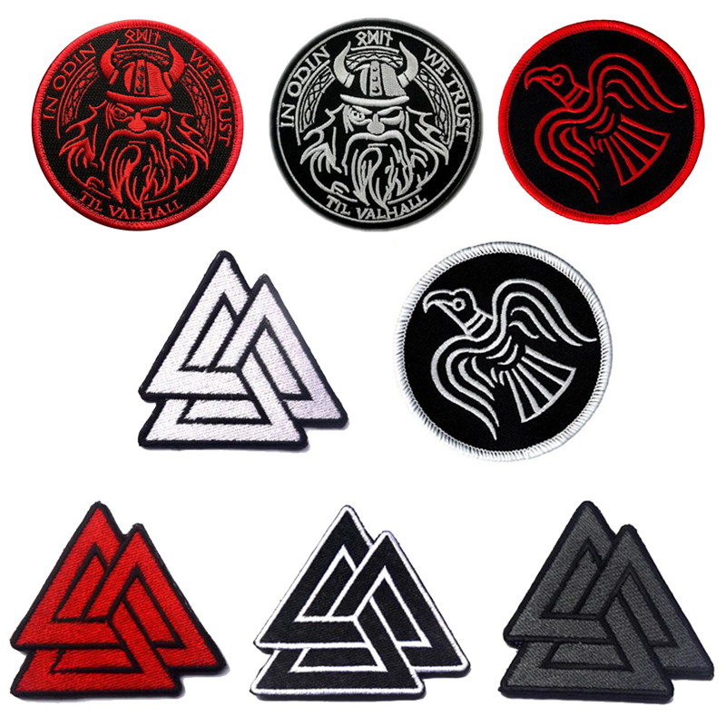 Empire Tactics Vking Viking Symbol Pirate Tactics Morale Chapter Embroidery Armband Clothing Cloth Jacket Bag Patch Badge image