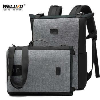 Men Shoulder Bag Male Multi-function Backpacks Leisure Laptop Bag Business Large Lightweight Waterproof Travel Backpack XA183ZC - DISCOUNT ITEM  41 OFF Luggage & Bags