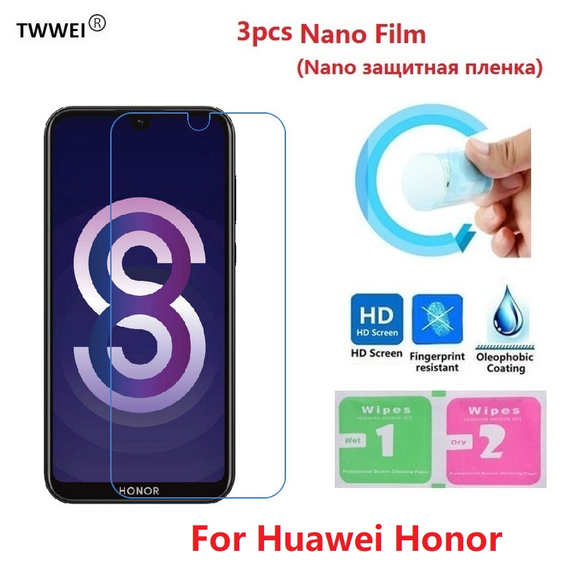 3pcs Protective Film on the for <font><b>Huawei</b></font> <font><b>Honor</b></font> 8X Max 8S 8A 8C 7X 7S 7A 7C 6X 6A 6C <font><b>5C</b></font> Screen Protector Film Foil (Not <font><b>Glass</b></font>) image