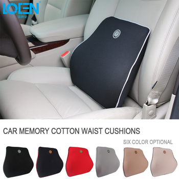 Almohadas traseras tejido de memoria espacio asiento de coche cojín ...