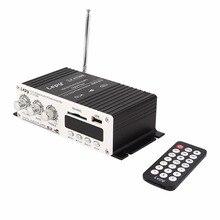 Mini 12 V De Voiture MP3 Salut-fi Stéréo Amplificateur Audio Accueil Auto Moto basse Haut-Parleur Boostrer Lecteur avec USB Pour Port DVD FM MMC