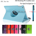 Rotation PU Leather Case For Apple iPad Air 1 Smart Cover For ipad 5 Flip Tablet Cases With Stand + Free Stylus Pen