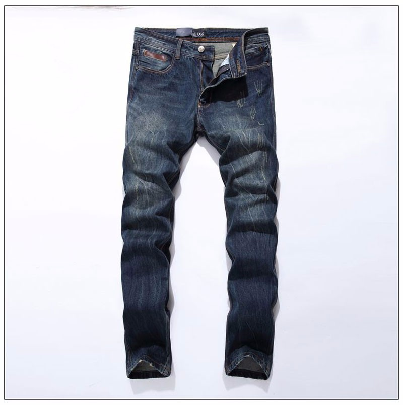 где купить Nostalgia Retro Torn Jeans For Men Italian Designer Straight Fit Jeans DSEL Brand Jeans Men Casual Pants, 100% Cotton по лучшей цене
