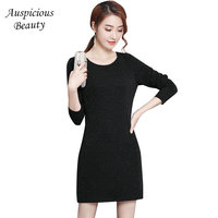 Sexy Bodycon Dress Women Slim Long Sleeve Basic Short Mini Solid Color Club Party Paillette Dresses