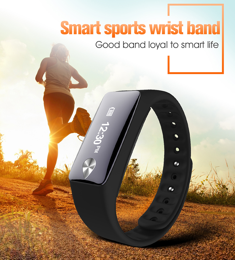 Rinsec new arrive Heart Rate Monitor Fitness Tracker Touchpad OLED Strap In Stock