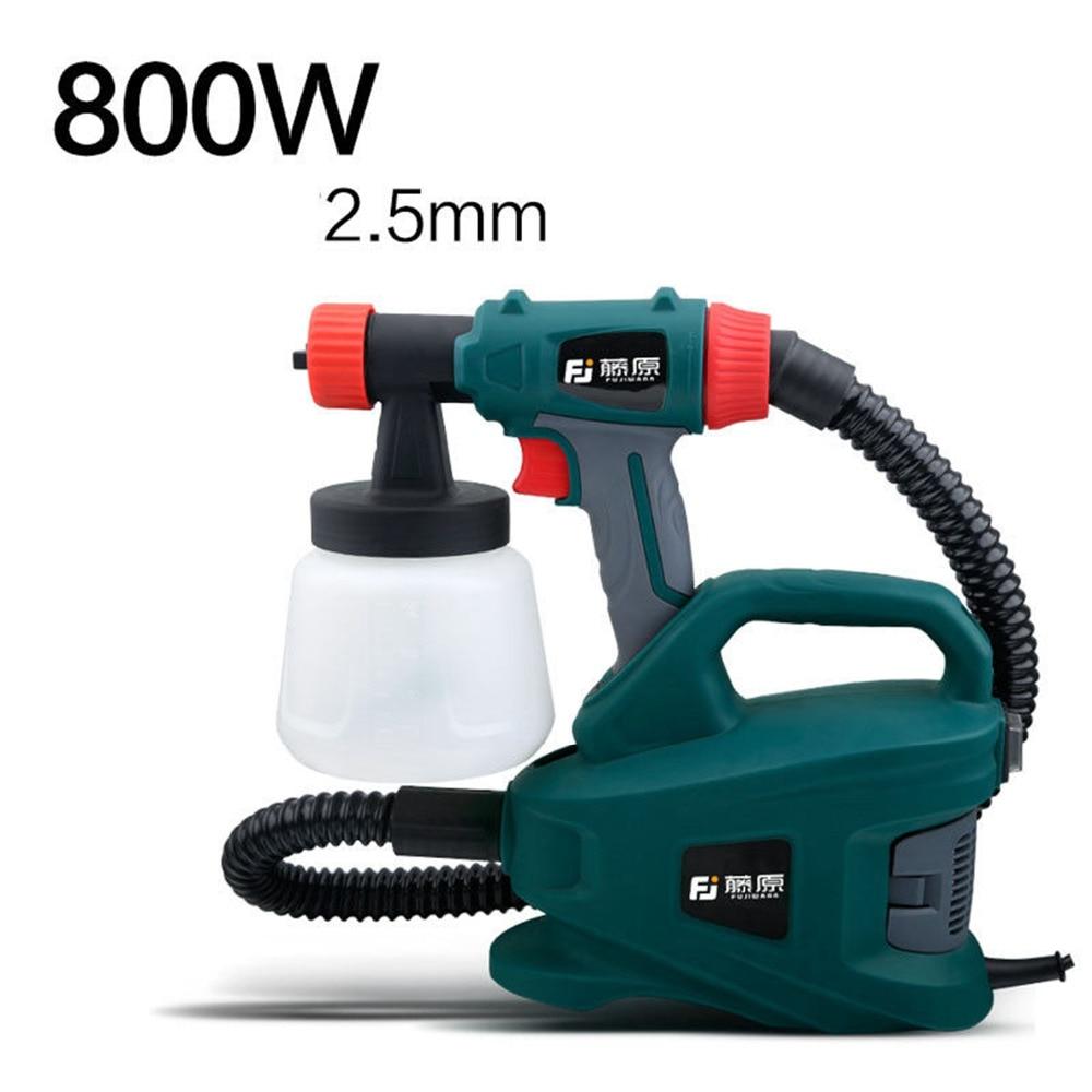 800W Electric Spray Gun Latex Paint Sprayer Paint Spray Gun Paint Painting Tools Nozzle Caliber 2