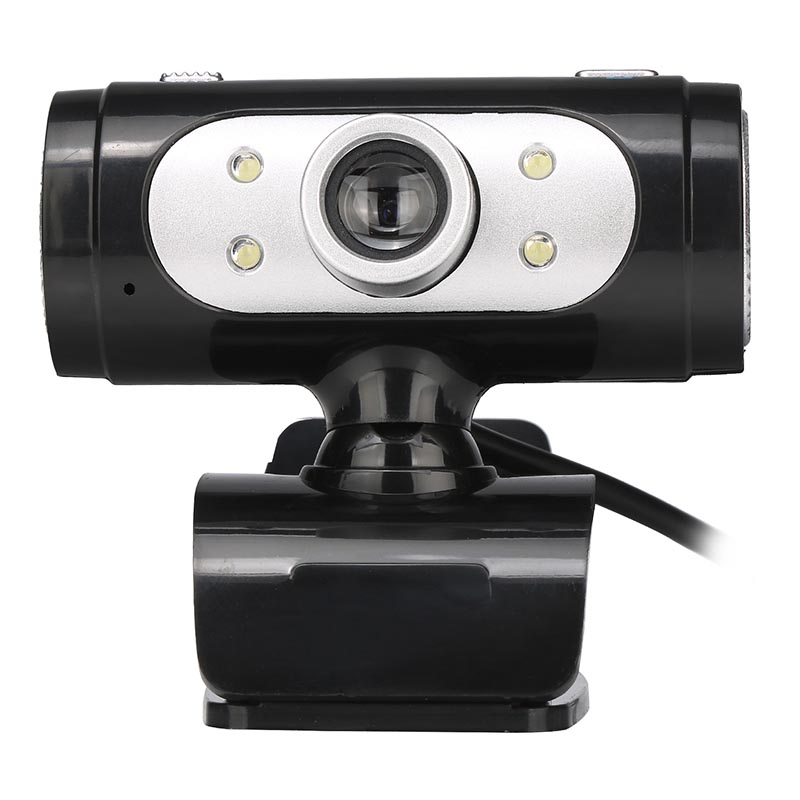 Full HD Web Cam 1280*720 720P Pixel 4 LED Night Light Webcam Camera with Mic Microphone for Computer PC Laptop