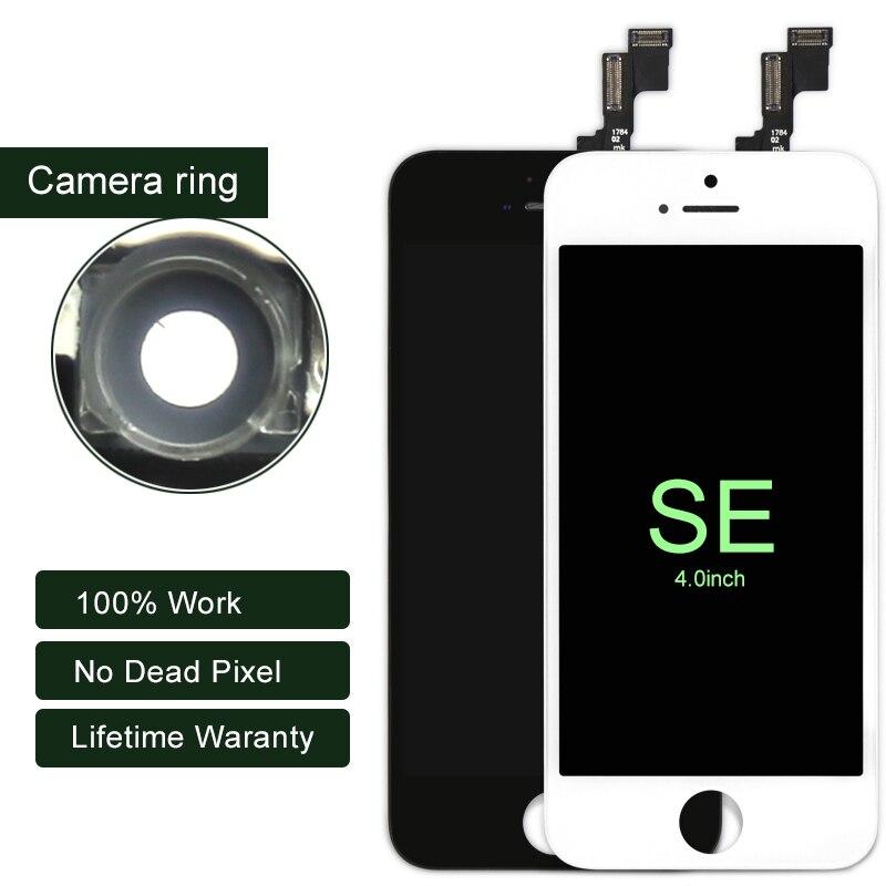 imágenes para 20 unids/lote 100% mejor calidad de la pantalla del teléfono móvil para el iphone se flim pantalla táctil lcd digitalizador asamblea sin píxeles muertos