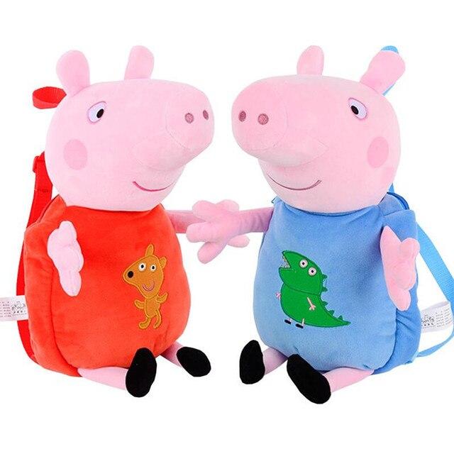 Peppa Pig George Plush Toys Backpack School Bag Kindergarten Bag