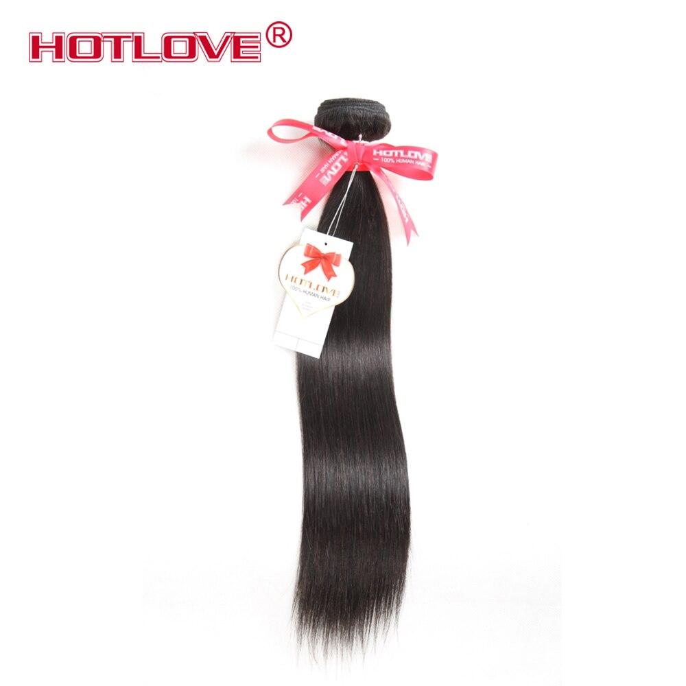 HOTLOVE las brazilski ravni prameni las Podaljški človeških las - Človeški lasje (za črne) - Fotografija 1