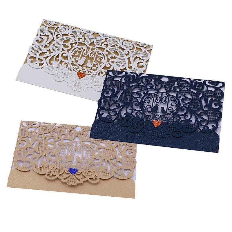 Wedding Invitation Innovative Ideas: 10PCS/Pack Hollowed Out Innovative Wedding Invitation Card