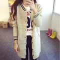 2017 New Style Women Korean Heigh Quaitly Sweater V-Neck Cardigan Sweater Students Button Long  Sweaters