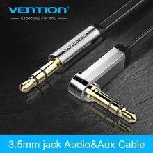 Конвенция плоским Aux кабель 3.5 мм Jack мужчинами 90 градусов под прямым углом аудио кабель для iphone стерео наушники Динамик ноутбука