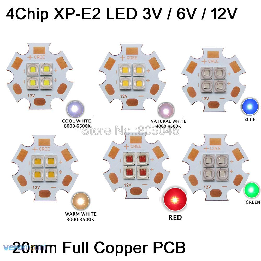 Lâmpadas Led e Tubos cores em 20mm pcb de Modelo do Chip Led : Smd5050