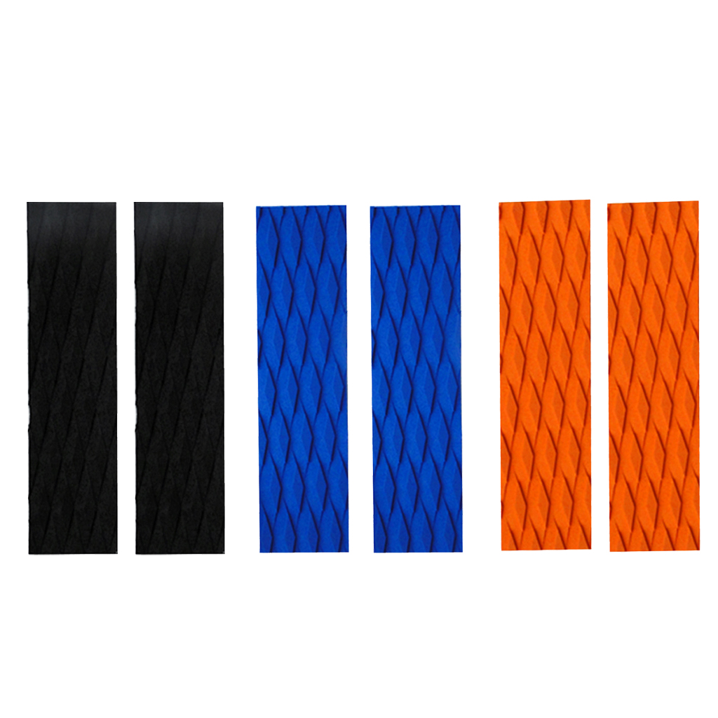 MagiDeal 2Pcs EVA Traction Pad Tail Pads Surf Bar Grips For Surfboard Kiteboard Traction Pad Diamond Groove Accessories