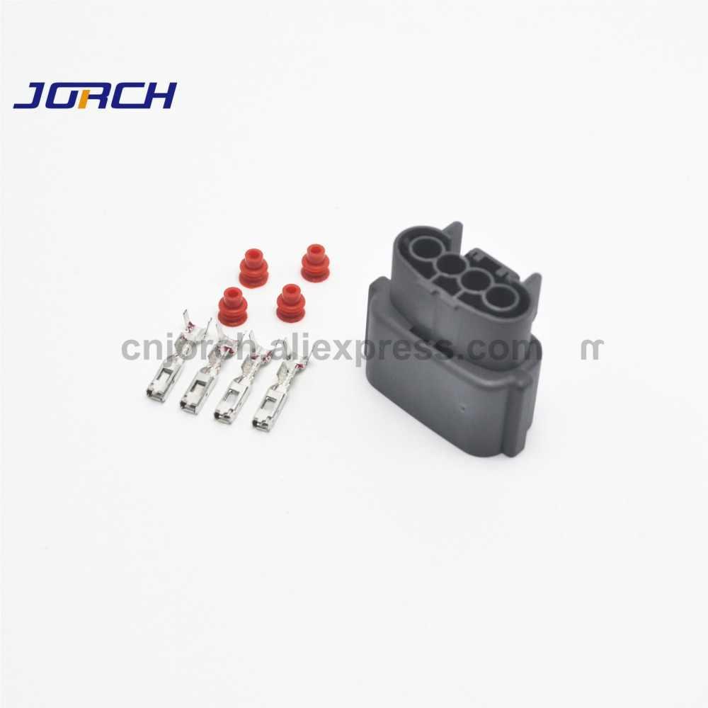 10 sets 4 pin automotive wire harness connector waterproof oxygen  sensor plug socket for nissan sr20det