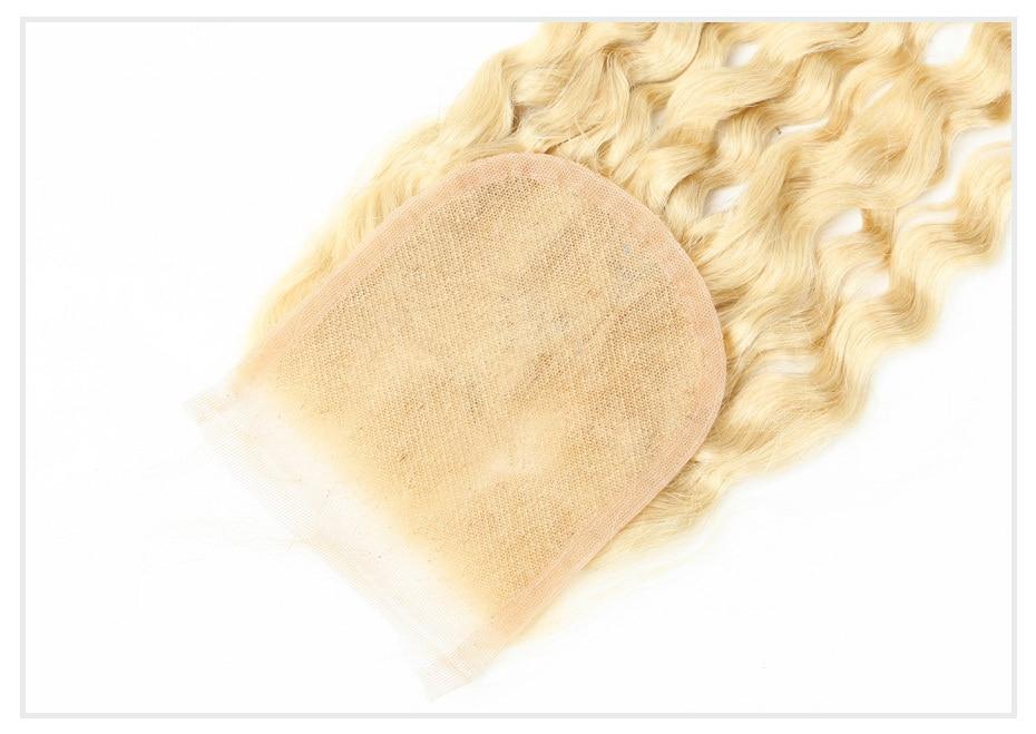 613 Blonde Brazilian Curly 4x4 Closure (10)
