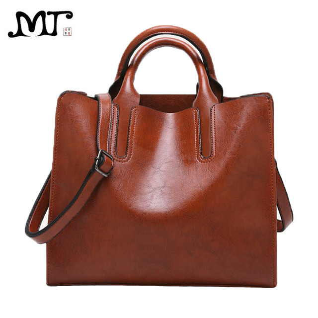cbc68141c5df MJ Women Shoulder Bag PU Leather Women s Hot Sale Handbag Tote Bag Leather  Crossbody Messenger Bags for Girls Solid Big Capacity