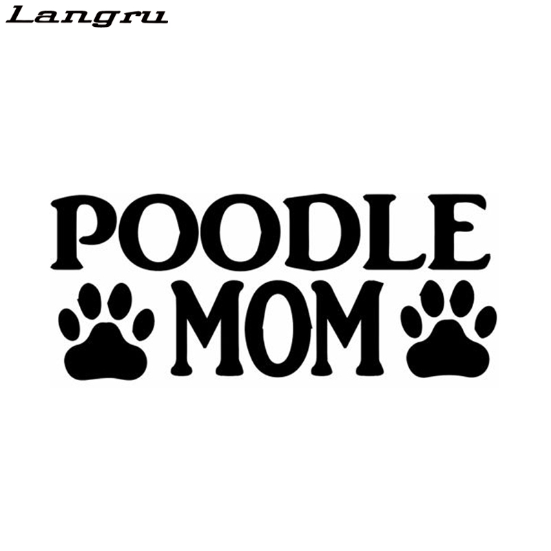 "Poodle Sticker 4x4/"" White"