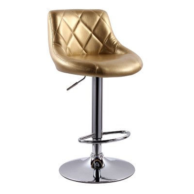Simple Design Bar Counter Chair Lifting Swivel Rotating Adjustable Height Bar Stool Stainless Steel Stent High Quality cadeira european fashion simple lift bar stool high chairs reception swivel stools counter