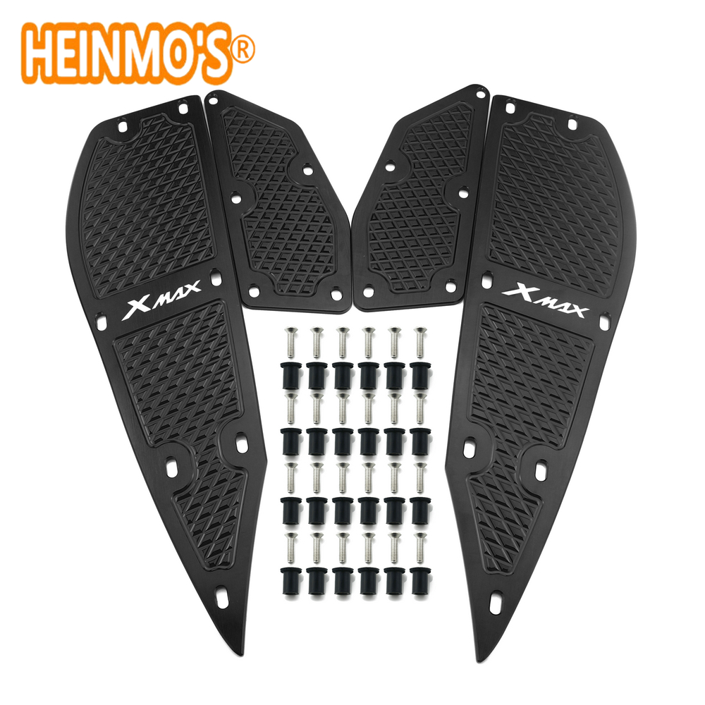 Image 2 - For yamaha xmax 300 1 Set 4 PCS Footrest Pedal Plates x max 300 Motorcycle Scooter Accessories xmax 300 For yamaha Foot Rest Pad-in Covers & Ornamental Mouldings from Automobiles & Motorcycles