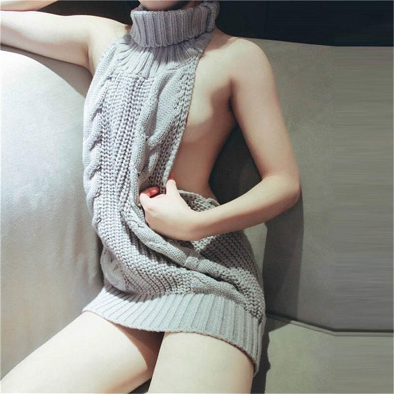 2017-HOT-Japanese-Super-sexy-sleeveless-knitting-leisure-women-dress-lady-women-within-Temptation-backless-Sweater (3)