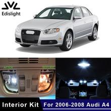 Edislight 21 шт. Canbus белый светодиодный светильник автомобильные лампы Интерьер Пакет Комплект для 2006-2008 Audi A4 S4 B7 Avant Карта Купол дверь пластина свет