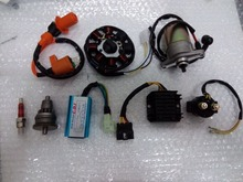 GY6 50cc Motor Assy Starter,Clutch,RECTIFIER,CDI ,STATOR COMPONENT-8, Relay for 139QMB Scooter ATV Go Karts Moped Engine Parts