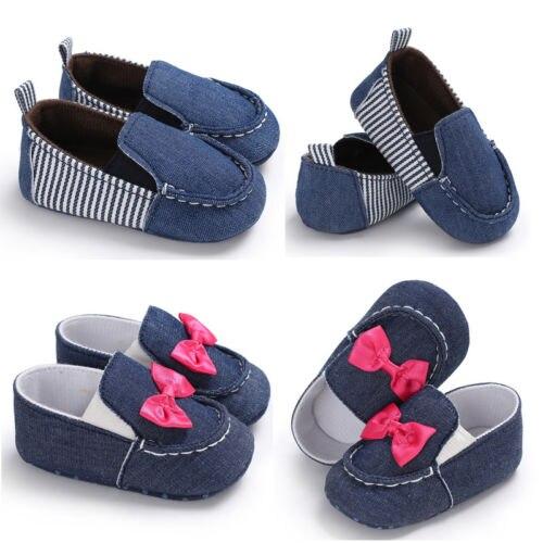 Loafers Prewalker Soft-Soled-Shoes Newborn Infant Toddler Baby-Boys-Girls Fashion Denim