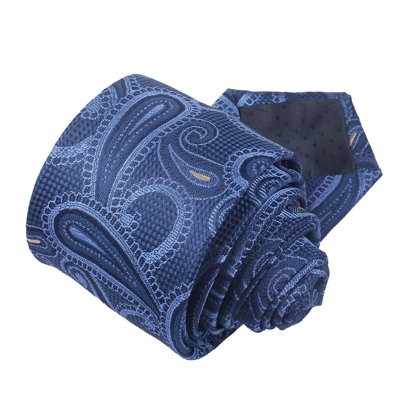 Fashion Skinny Neck Ties for Men Casual Plaid Suits Tie Gravatas Blue Mens Neckties For Business Wedding 6cm Width Slim Men Ties 2