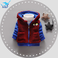 Baby Boys Winter Coats 2016 New Fashion Cartoon Thick Hooded Boys Outerwear Long Sleeve Warm Jacket For Infant Boys