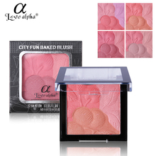 Professional Baked Bronzer Blush Palette Love Alpha Brand Makeup 3D Face Soft Mineral Powder Sleek Cheek Blusher Rouge Maquiagem