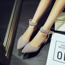 2016 New Fashion Spring Autumn Summer Style Brand Shoes High Heel Pumps Thick Heel evening women shoes woman pumps zapatos mujer