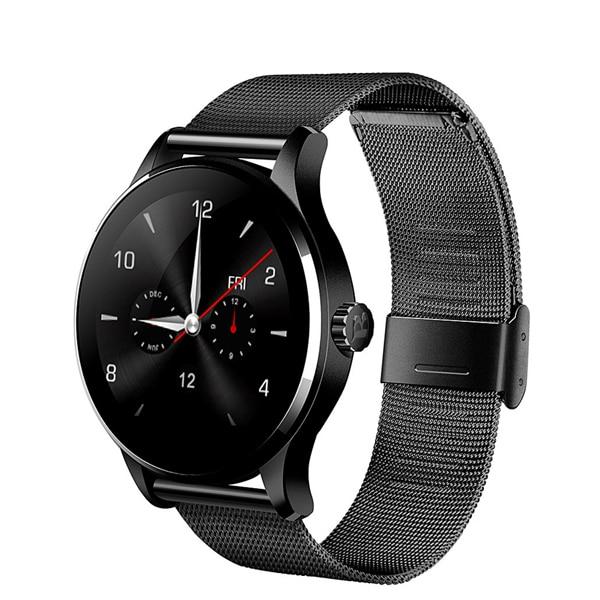 K88H Bluetooth reloj inteligente 1,22 pulgadas IPS pantalla MTK2502C apoyo Siri función Monitor de ritmo cardíaco reloj inteligente para IOS Android