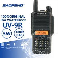 Baofeng UV 9R IP67 עמיד למים ווקי טוקי Uhf Vhf חם HF נייד רדיו UV 9R משטרת ציוד ווקי טוקי מקצועי UV9R