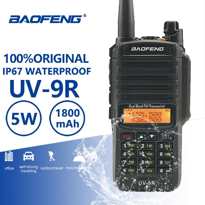Baofeng UV 9R IP67 Waterproof Walkie Talkie Uhf Vhf Ham HF Portable Radio UV 9R Police Equipment Walky Talky Professional UV9R-in Walkie Talkie from Cellphones & Telecommunications