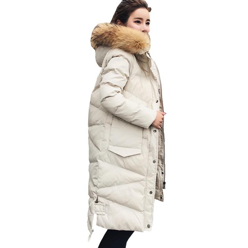 À Manteau Nouvelles Col Capuchon Survêtement Femmes 2018 De Mode Beige Bas Veste Vers Épaississement Le Fourrure BX4nqYnwU