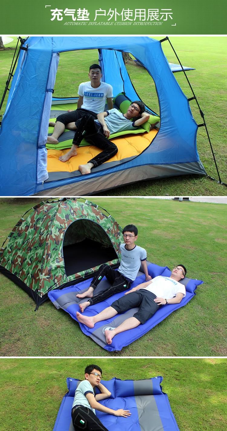 livre 18 ponto almofada inflável automática 190*130*3.5cm viagem colchão de acampamento