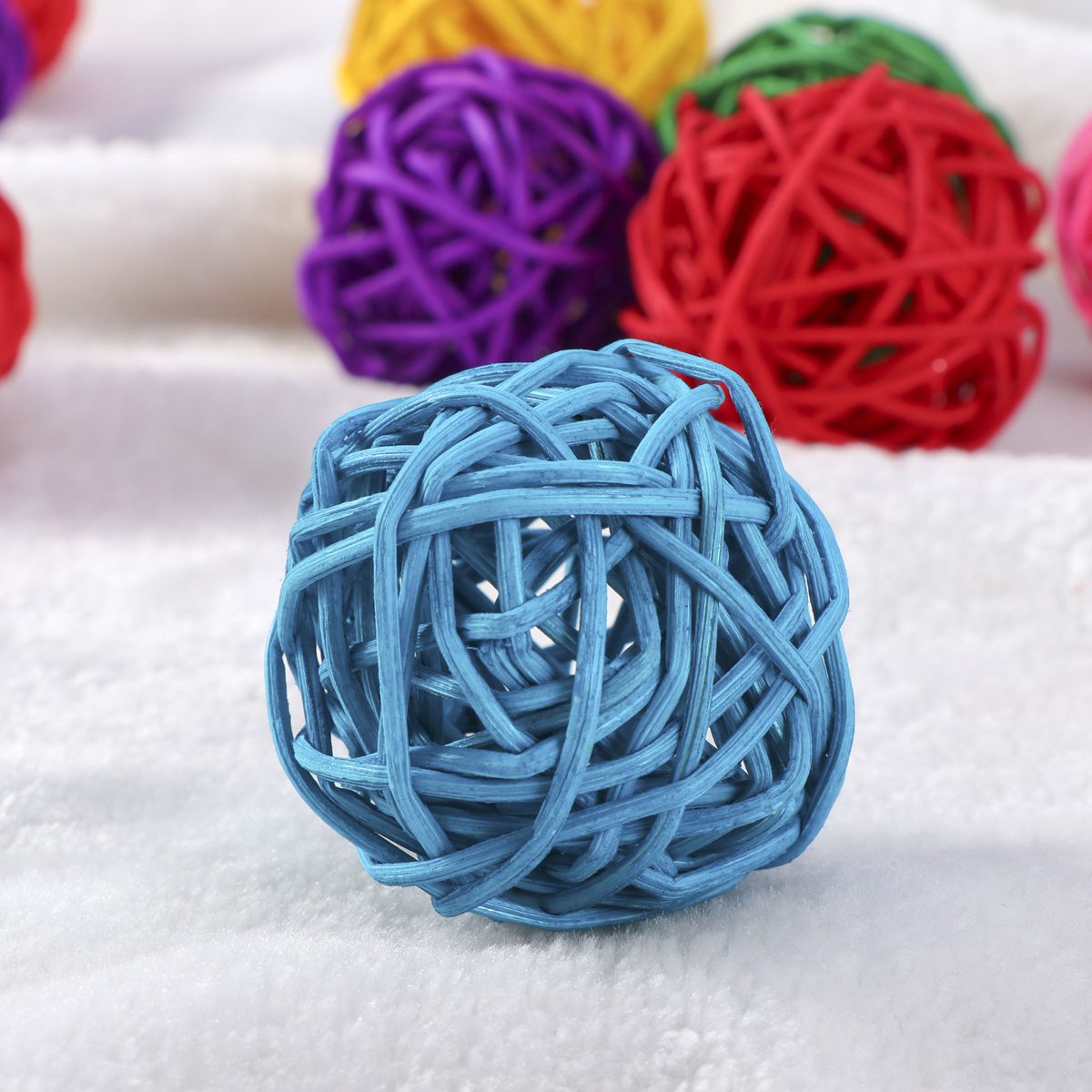 assorted Color 5pcs Wicker Rattan Ball Wedding Christmas Party Hanging Dec Nursery Mobiles 3cm Low Price