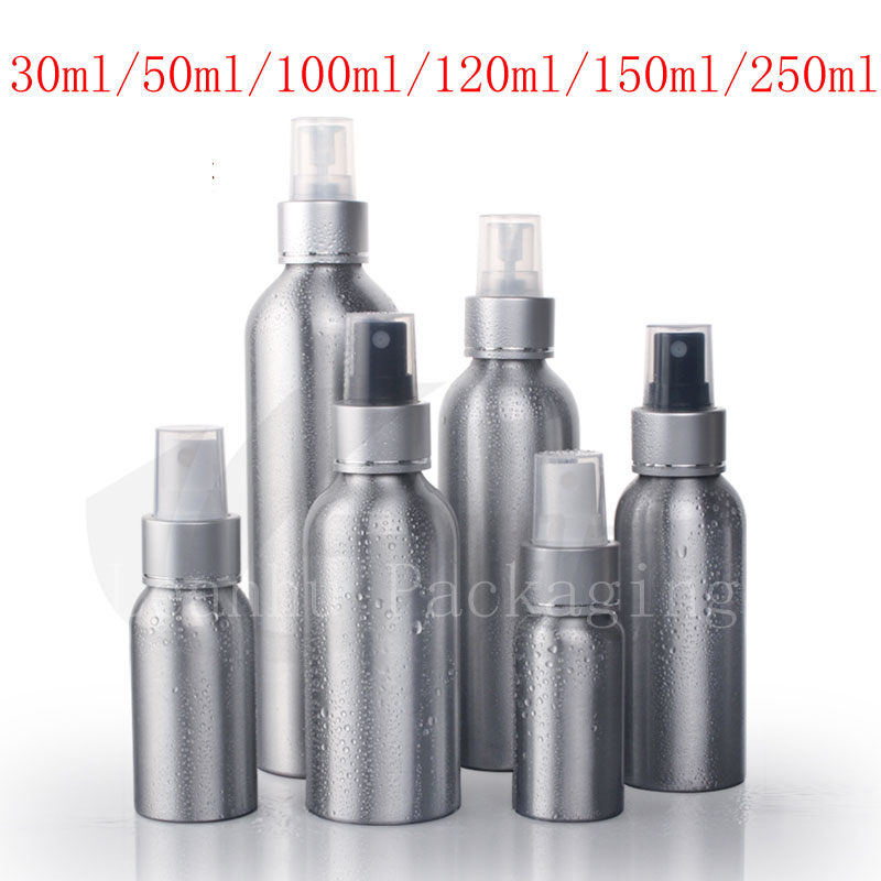 Empty Metal Aluminum Spray Bottles Containers Perfume Metal Container Perfumes Bottle With Aluminum Mist Sprayer Pump