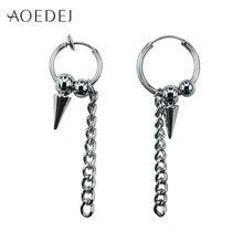 514c048b7 AOEDEJ Punk Spike Earrings For Men GD Small Hoop Earrings For Women Lady  Biker Earings Non Piercing Creole Boucle D'oreille