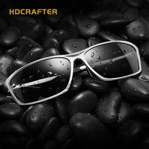 Image 2 - HDCRAFTER الألومنيوم المغنيسيوم نظارات الرجال الاستقطاب القيادة نظارات الشمس الرجال oculos الذكور نظارات اكسسوارات