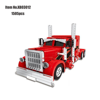 XingBao 03012 Technic MOC Series The Red Monster Set Building Blocks Compatible educational Toys For Children