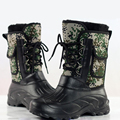 Men Military Winte Fishing Boots Warm Camouflage aske oot With Fur Fashion Skiing Waterproof Casual Mid-calf Shoes galoshes