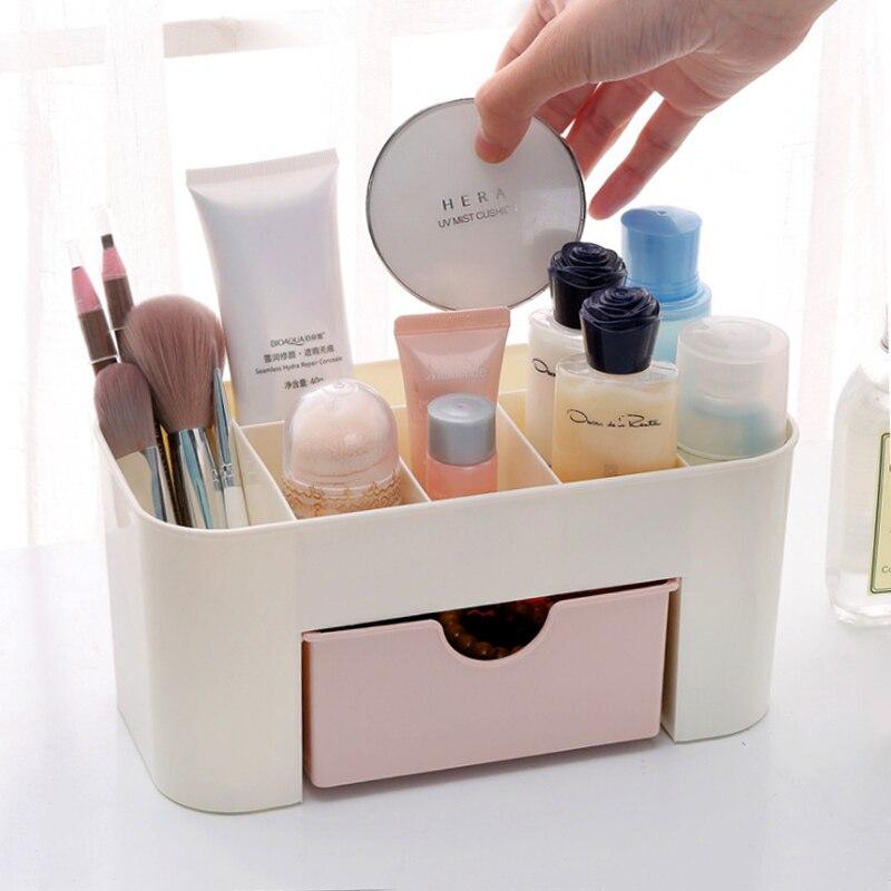 Home Storage & Organization Bathroom Storage & Organization Charitable Meyjig Plastic Cosmetic Storage Box Desk Makeup Remote Control Case Brush Lipstick Holder Office Bathroom Organizer