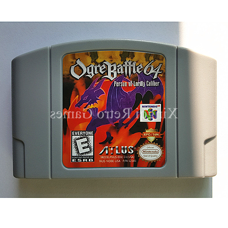 Nintendo 64 Game Ogre Battle 64 Person of Lordly Caliber Video Game Cartridge Console Card English Language US Version