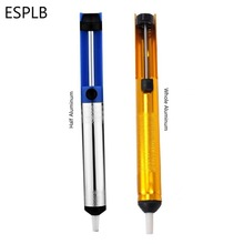 Aluminum Metal Desoldering Pump Suction Tin Gun Soldering Sucker Pen Removal Vacuum Soldering Iron Desolder Hand Welding Tools(China)